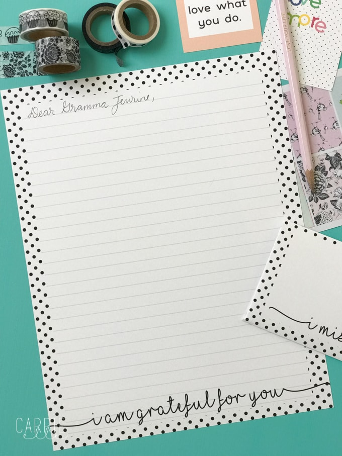 image relating to Free Printable Stationary known as Printable Stationery with a Graude Topic - Carrie Elle