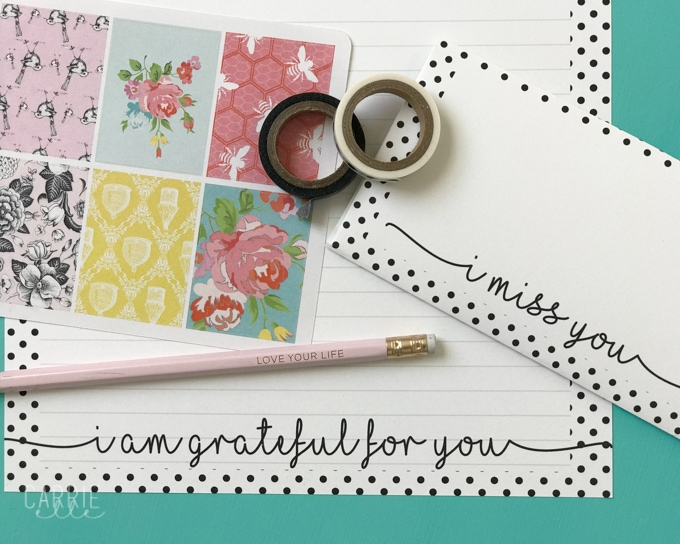 picture about Free Printable Stationary called Printable Stationery with a Graude Topic - Carrie Elle