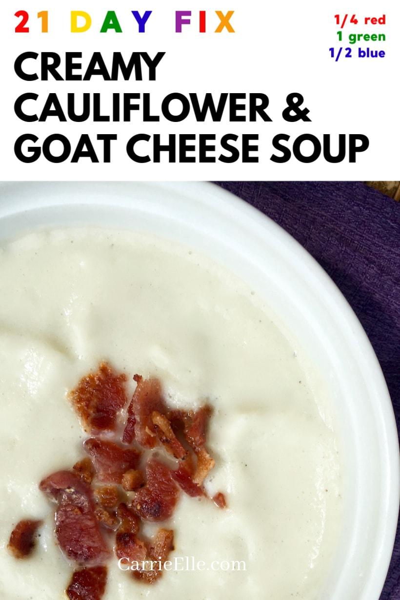21 Day Fix Creamy Cauliflower Soup