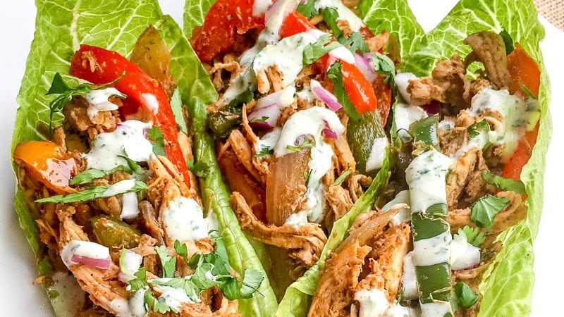 Chicken Fajita Lettuce Wraps | 21 Day Fix | Weight Watchers