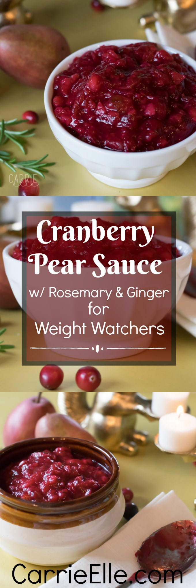 21 Day Fix Cranberry Pear Sauce with Rosemary and Ginger ...