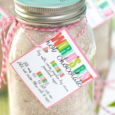 World's Best Hot Chocolate Recipe & Printable Gift Tag