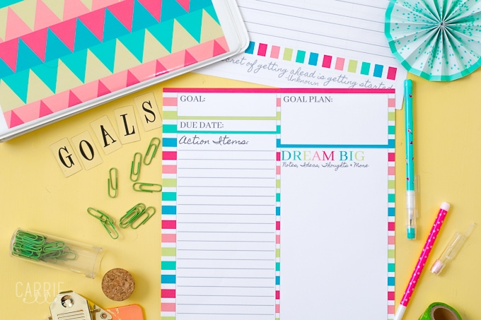 Printable Goal Planning Template  Carrie Elle