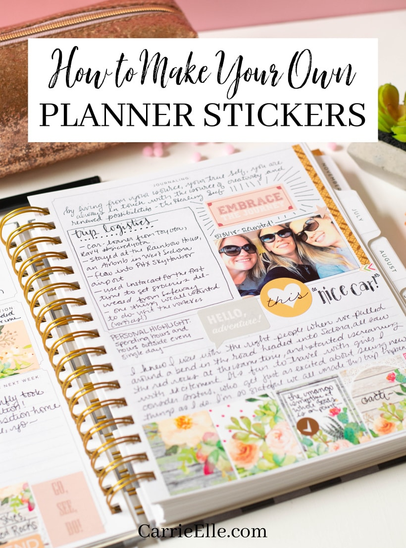 how to make your own planner stickers carrie elle. Black Bedroom Furniture Sets. Home Design Ideas