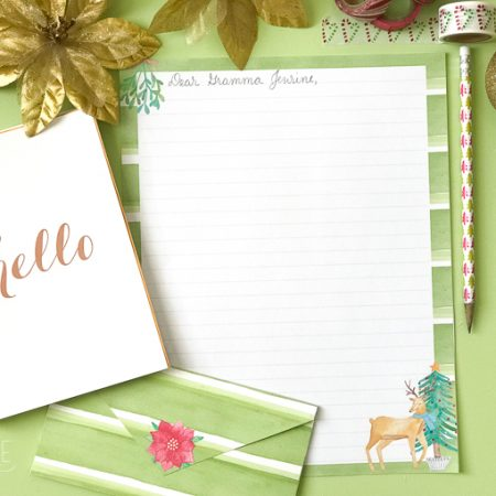 Free Printable Stationery Christmas