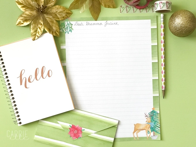 Free Printable Stationery Christmas