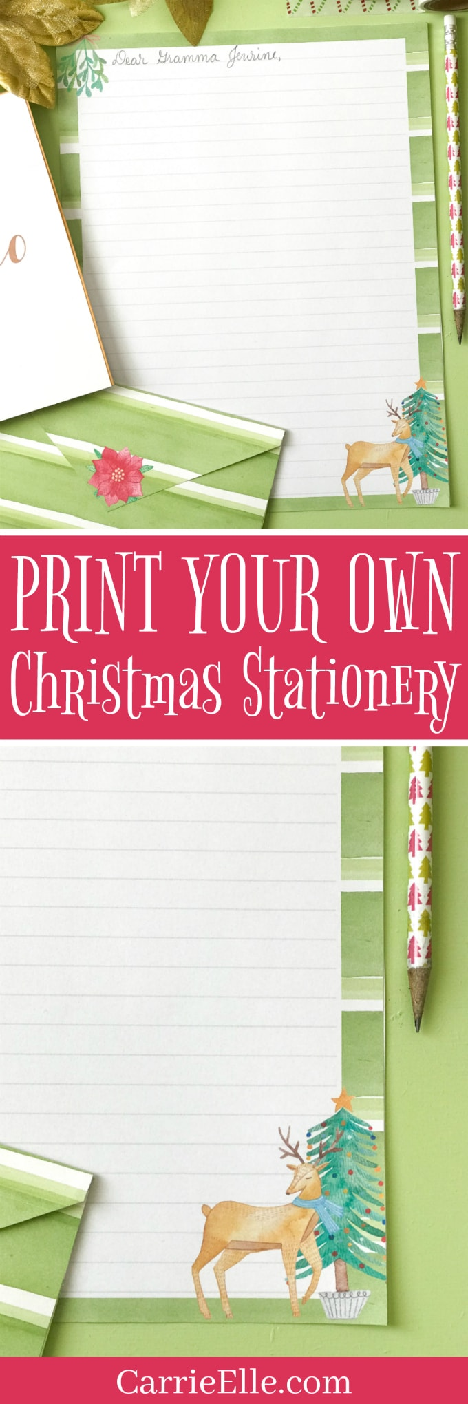 Printable Stationery Christmas