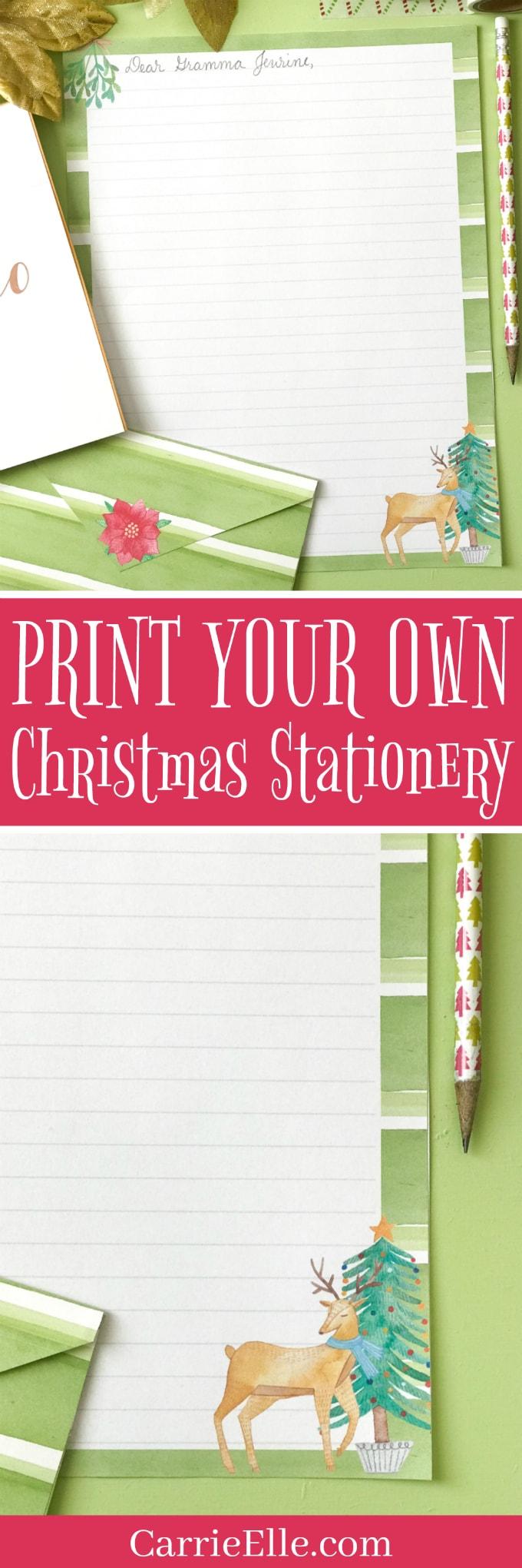 Printable Stationery Christmas