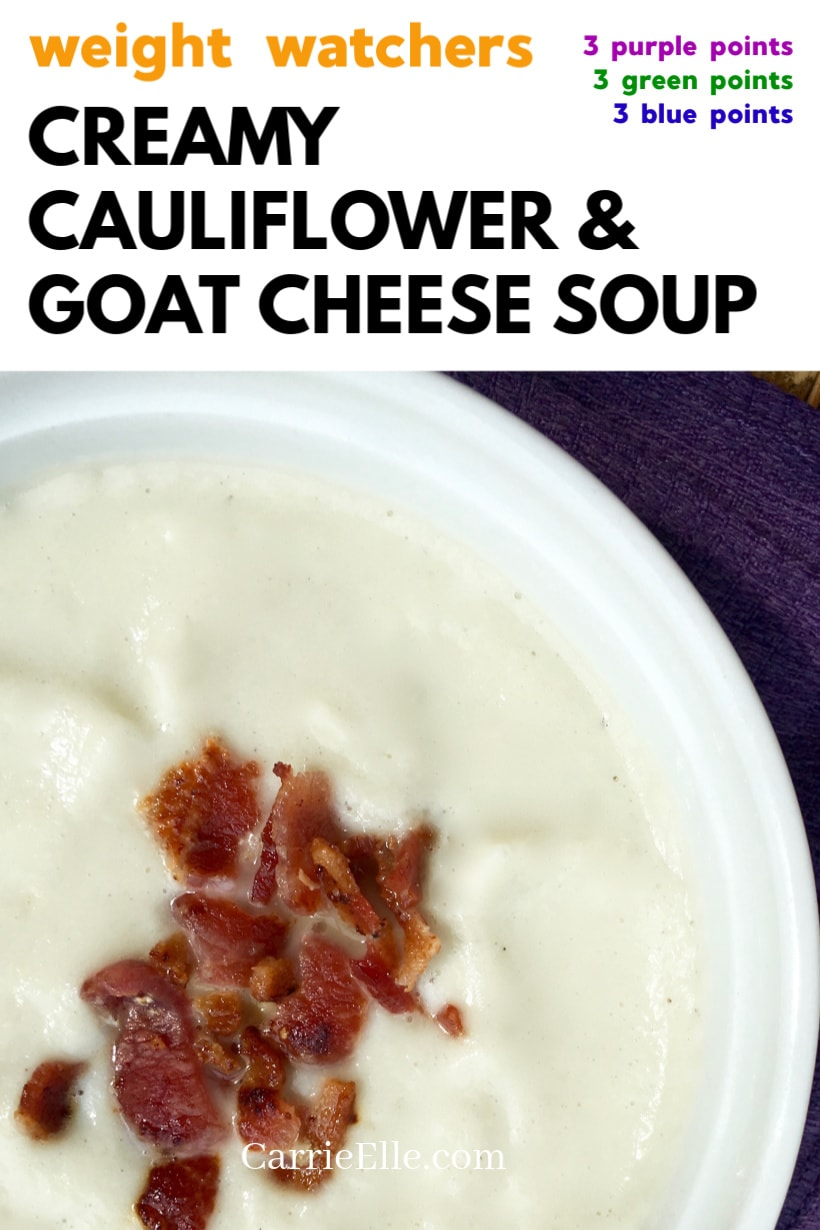 WW Cauliflower Goat Cheese Soup