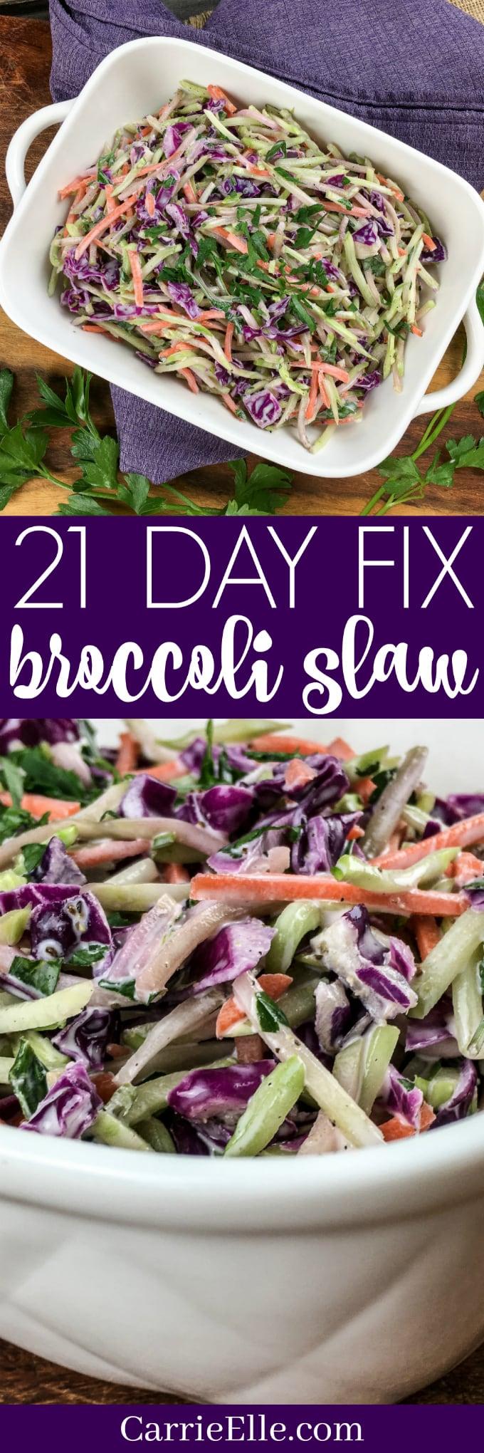 21 Day Fix Broccoli Slaw
