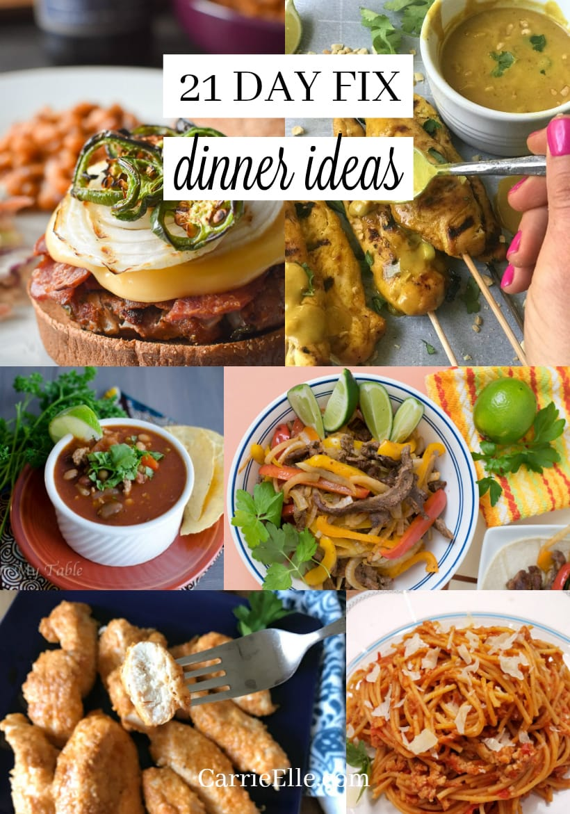 21 Day Fix Dinner Ideas