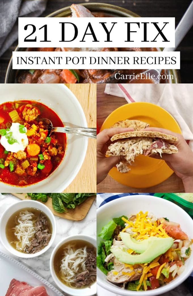 21 Day Fix Instant Pot Dinners