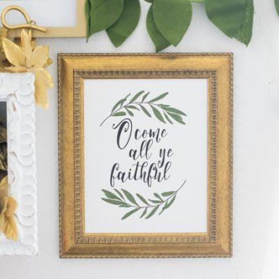 O Come All Ye Faithful Printable Wall Art