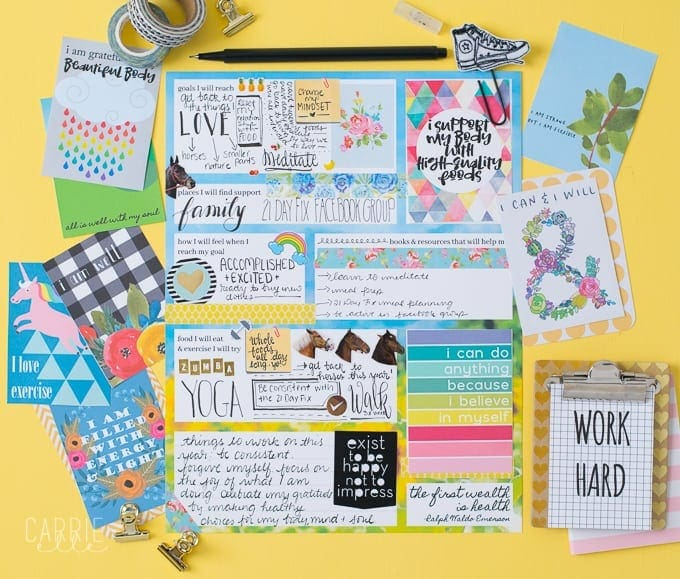 photograph about Printable Vision Board Template known as Printable Pounds Reduction Eyesight Board Template - Carrie Elle