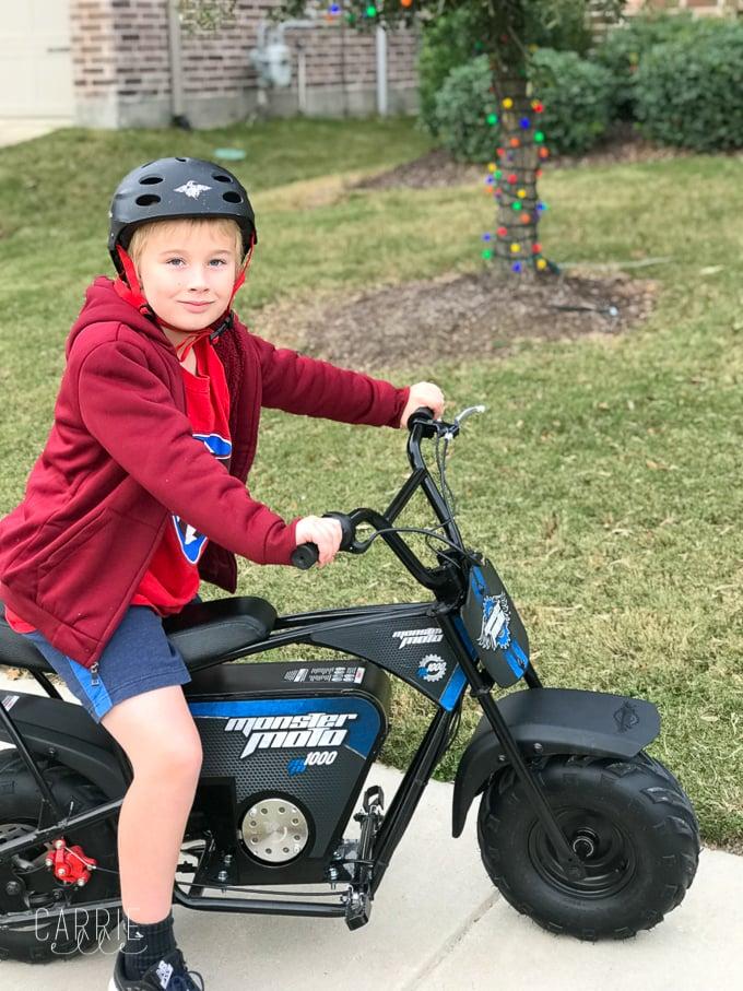"""Monster Moto e1000 Mini Bike, aka """"Best Birthday Gift EVER!"""""""