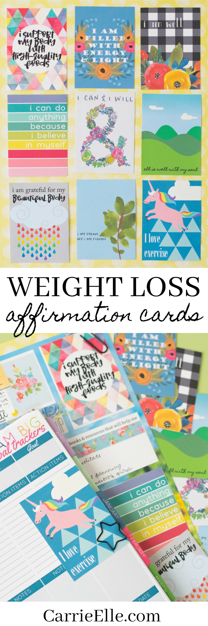 photo relating to Free Printable Affirmation Cards named Incredibly Printable Confirmation Playing cards - Carrie Elle