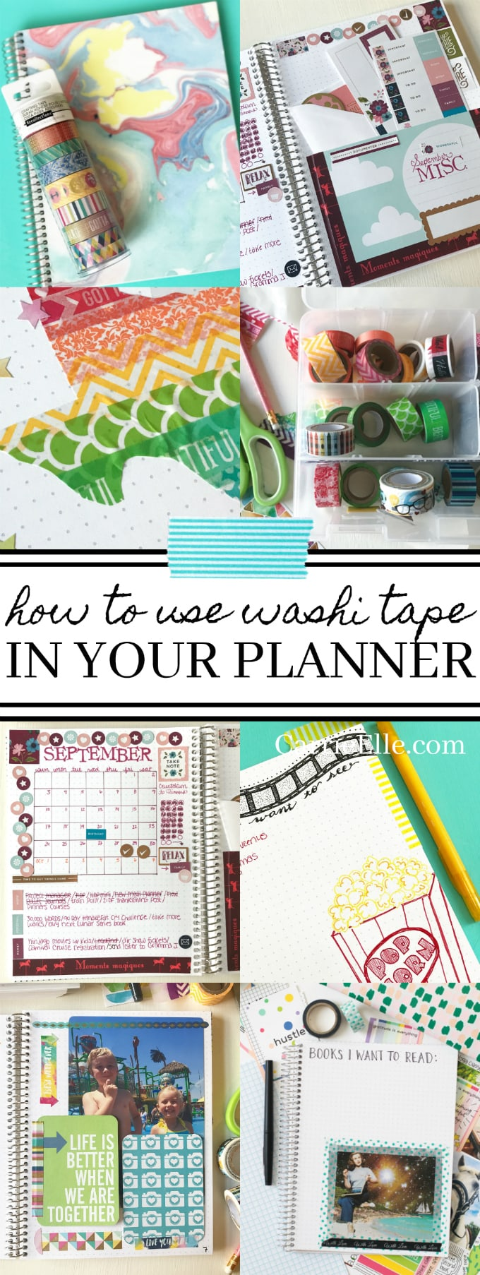 Washi Tape Planner Ideas