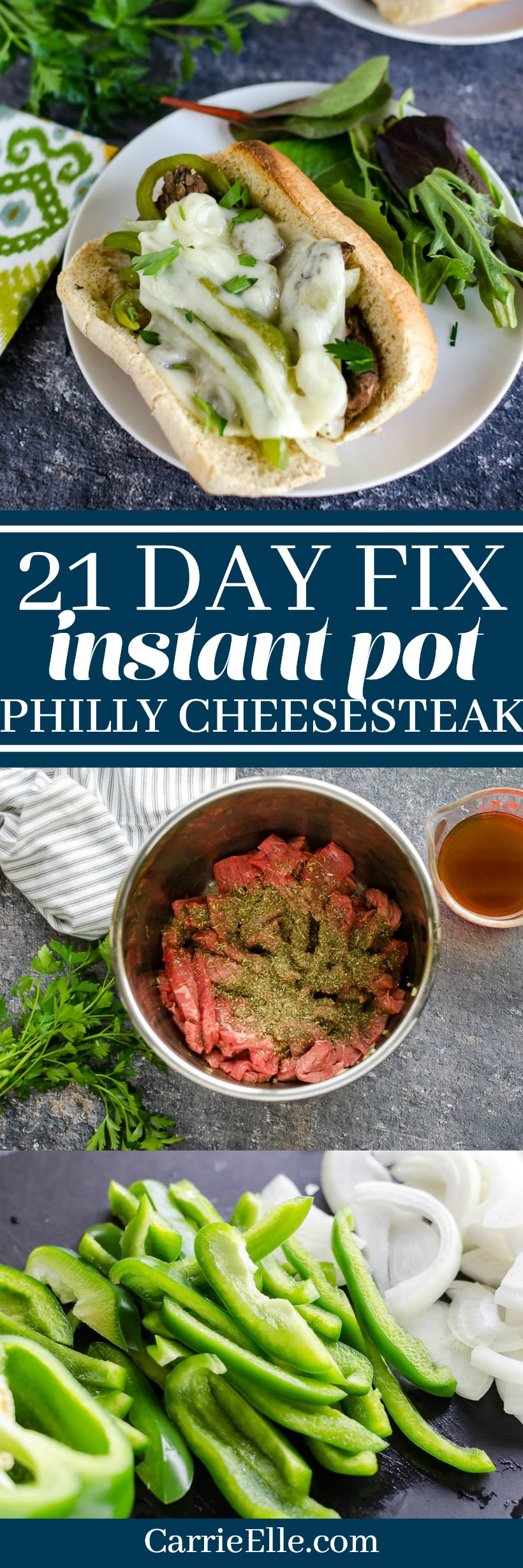 21 Day Fix Instant Pot Philly Cheesesteak
