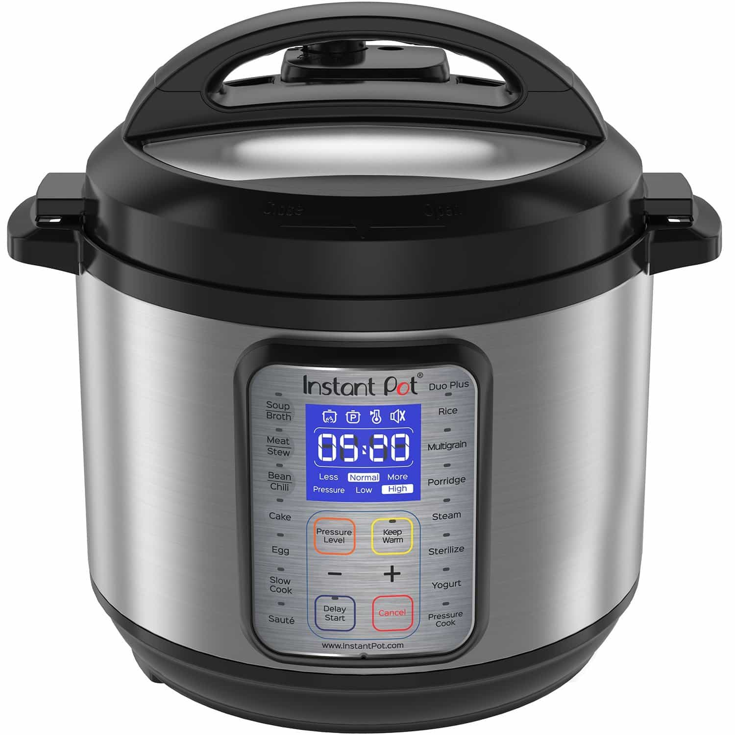 front face of an instant pot