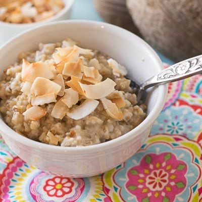 Instant Pot Buttered Coconut Steel Cut Oats (21 Day Fix, Freezer-Friendly)