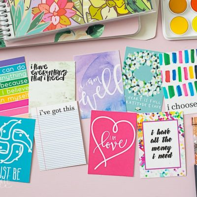 Pretty Printable Affirmation Cards
