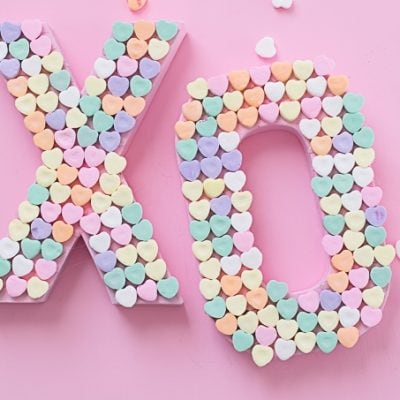 DIY Candy Heart XO Craft