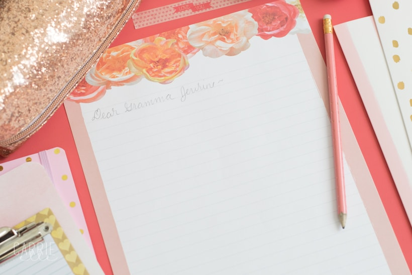 Printable Floral Stationery