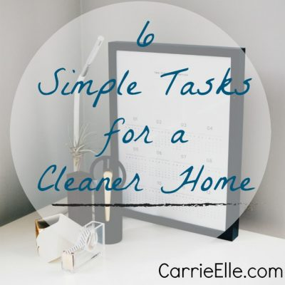 Simple Tasks for a Cleaner Home in 2018