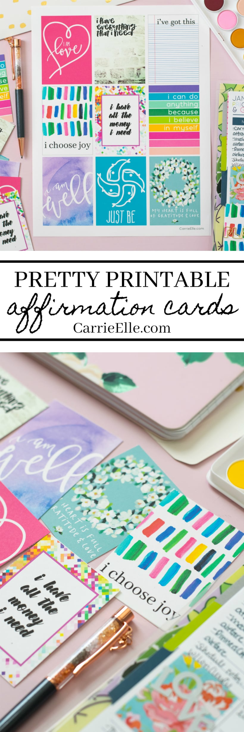 photo about Affirmation Cards Printable named Beautiful Printable Confirmation Playing cards - Carrie Elle