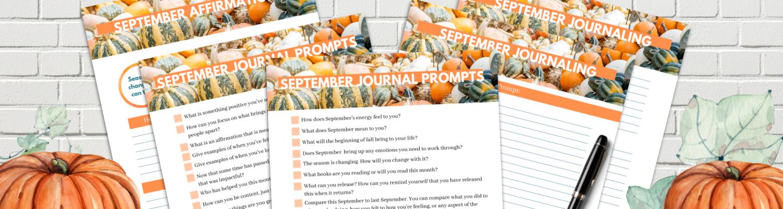 September Journal Prompts Blog