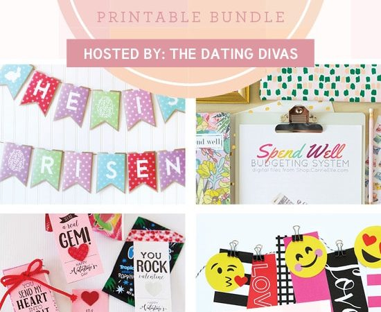 All Things Spring – Huge Printable Bundle for Valentine's Day & Spring