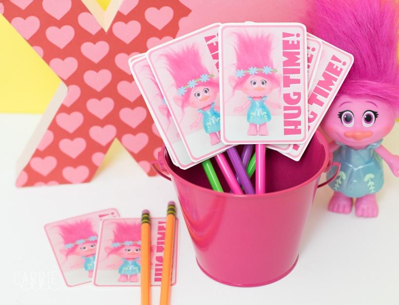 Printable Poppy Troll Valentine