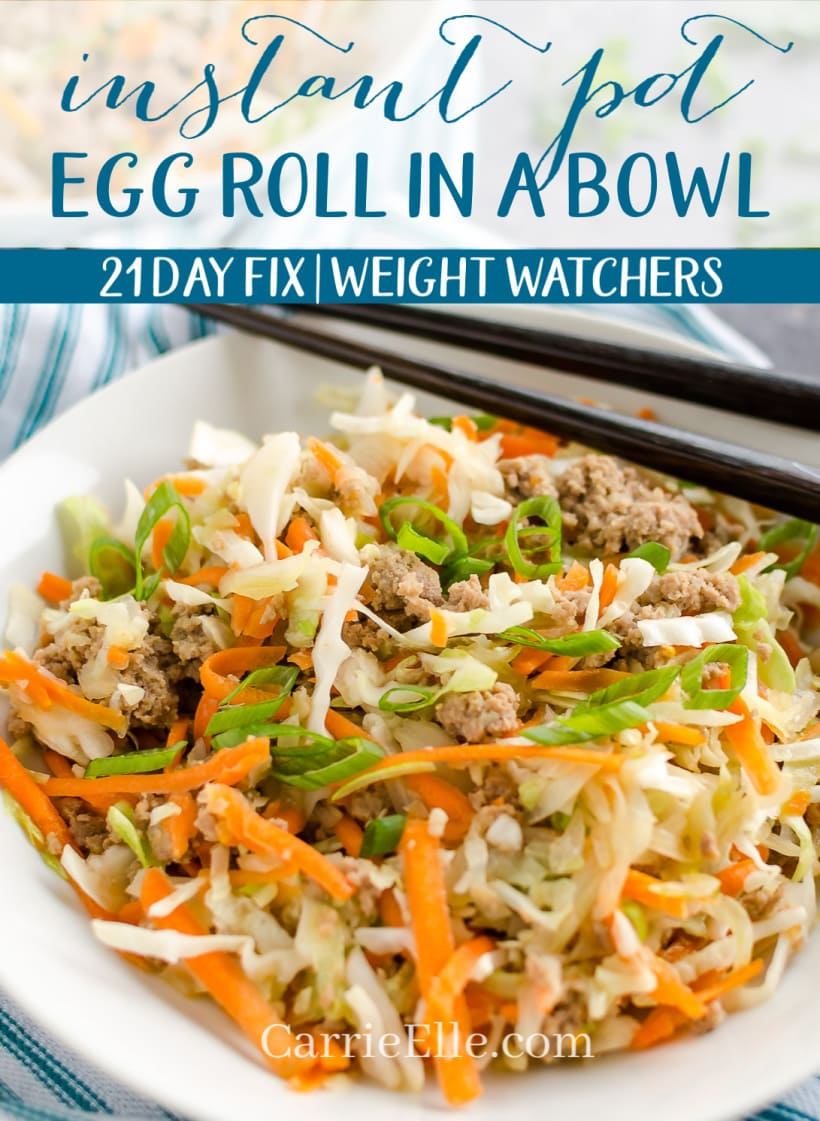 Instant Pot Egg Roll in a Bowl 21 Day Fix Weight Watchers
