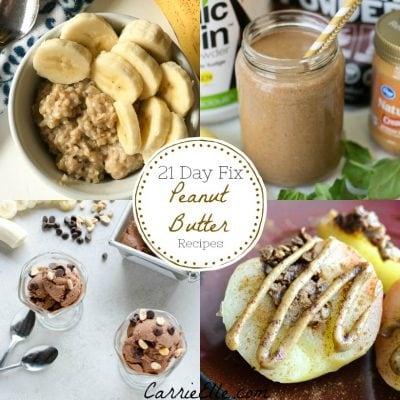 21 Day Fix Peanut Butter Recipes