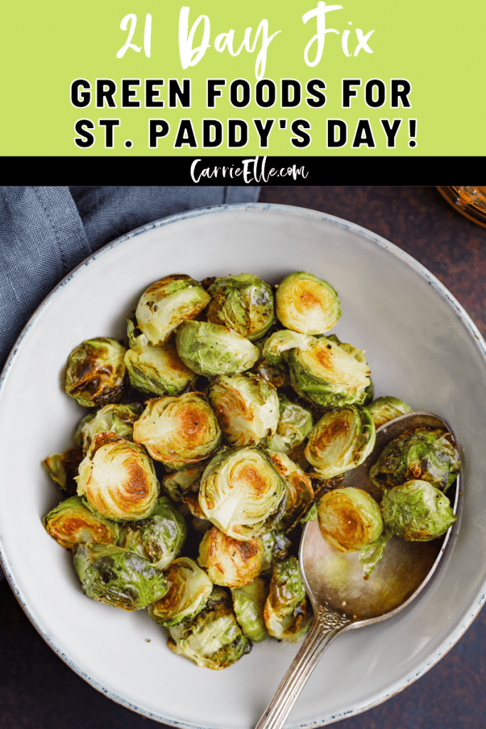 I've made a great list of 21 Day Fix green foods for St. Paddy's so that you can eat healthy and still feel super festive without the corned beef hash or bangers and mash.