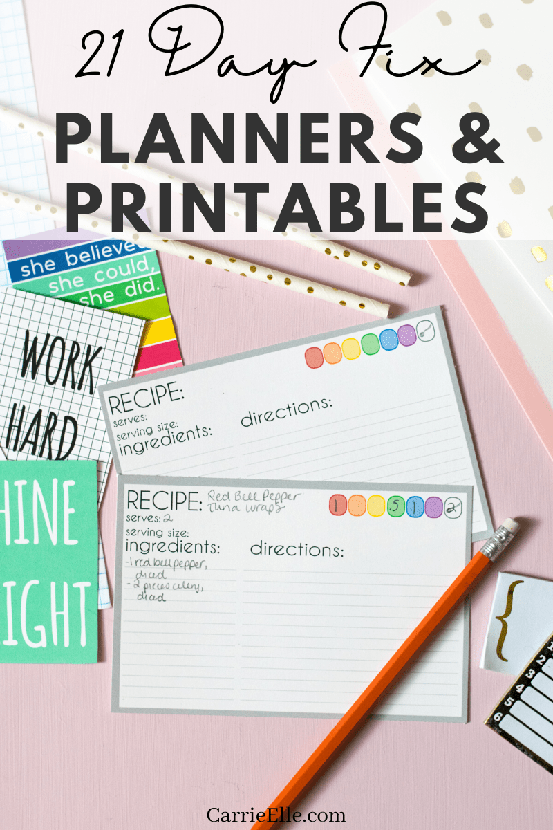 These 21 Day Fix planners & printablesare great tools for starting your diet off right.