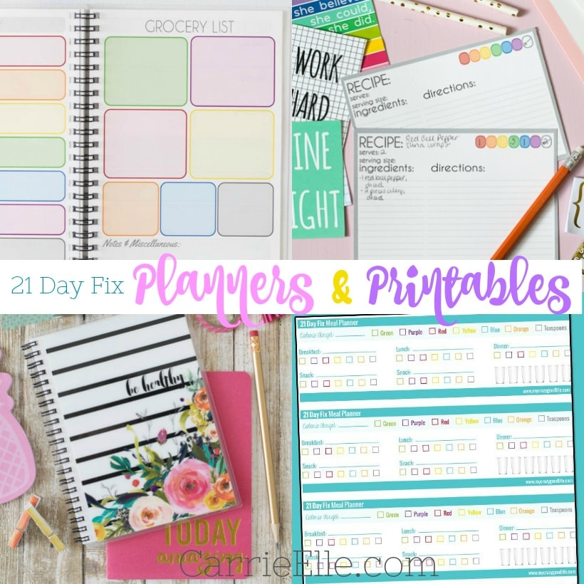 graphic regarding 21 Day Fix Printable Meal Planner identified as 21 Working day Maintenance Planners Printables - Carrie Elle
