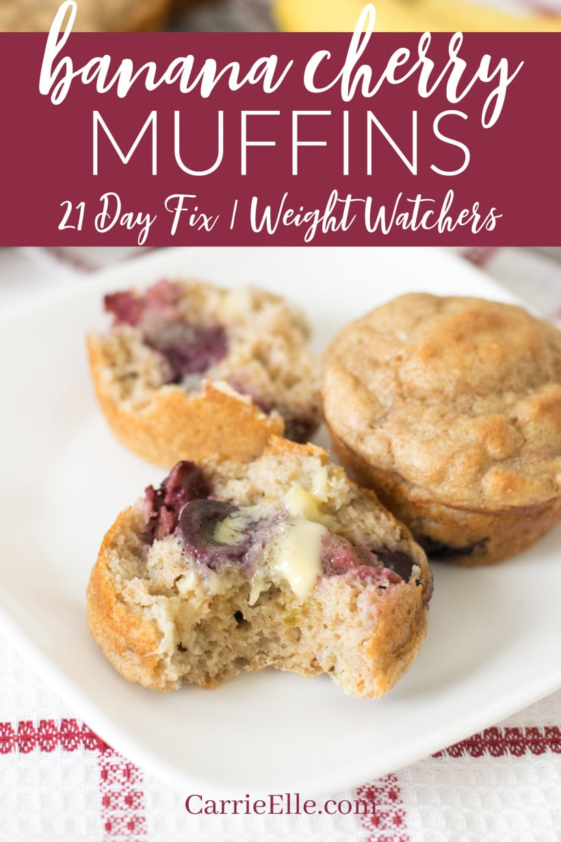Banana Cherry Muffins Weight Watchers 21 Day Fix