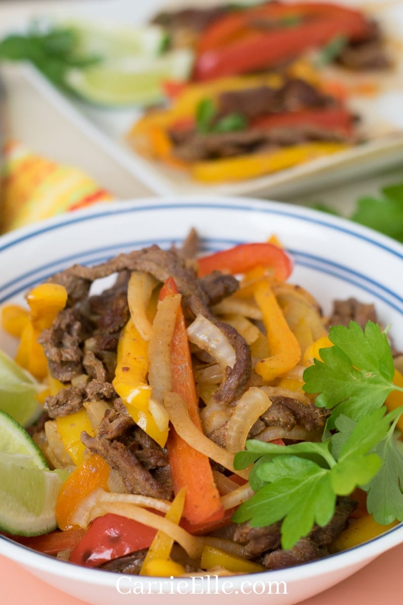 Sheet Pan Fajitas in a Bowl