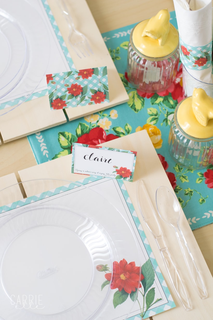 easy spring table setting