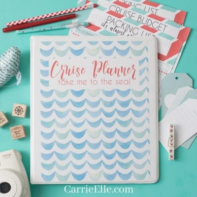 cute printable cruise planner