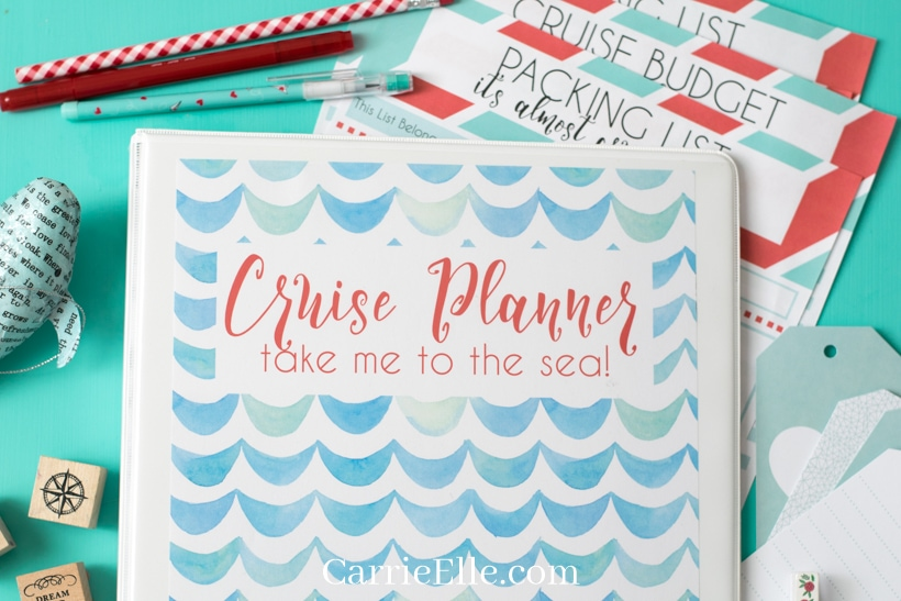 close shot of cruise planner