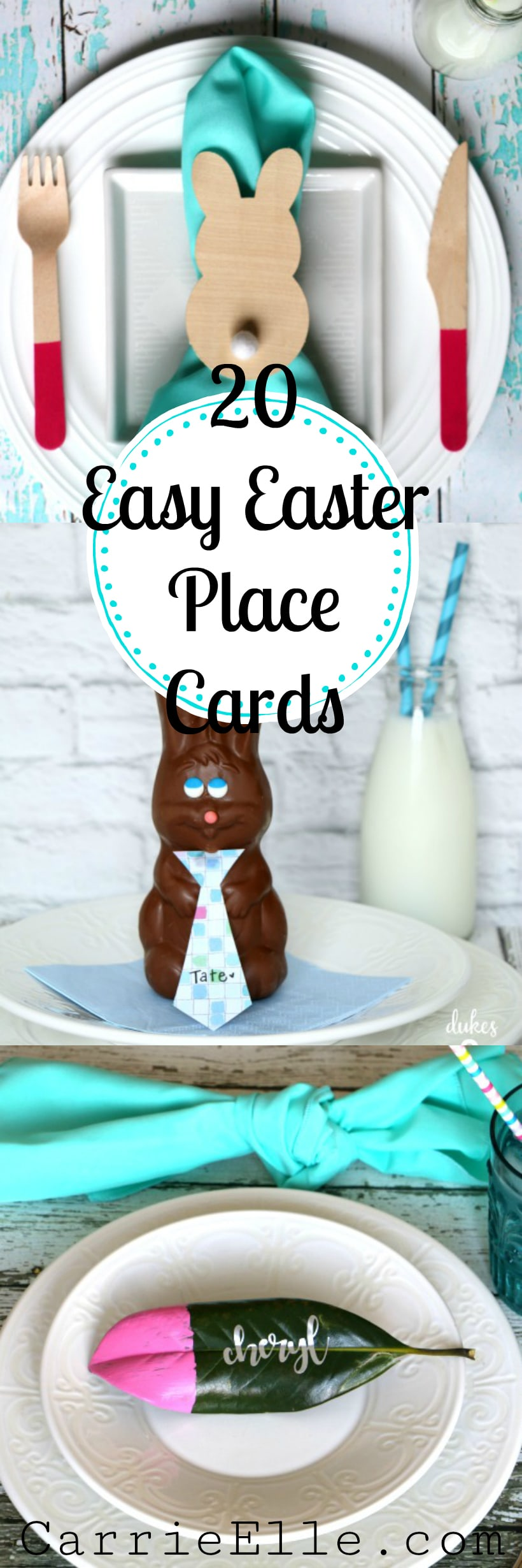 Easy Easter Place Card Pin