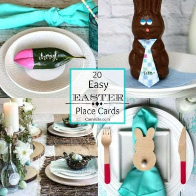 20 Easy Easter Place Cards