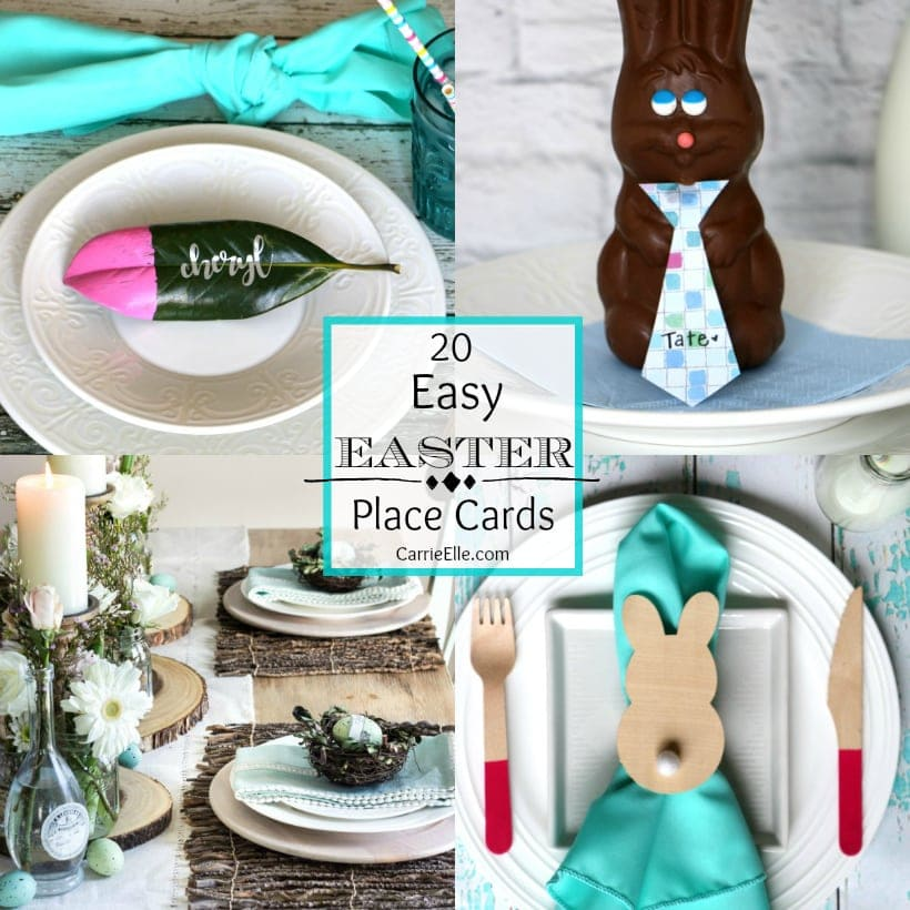 Easy Easter Place Cards Collage