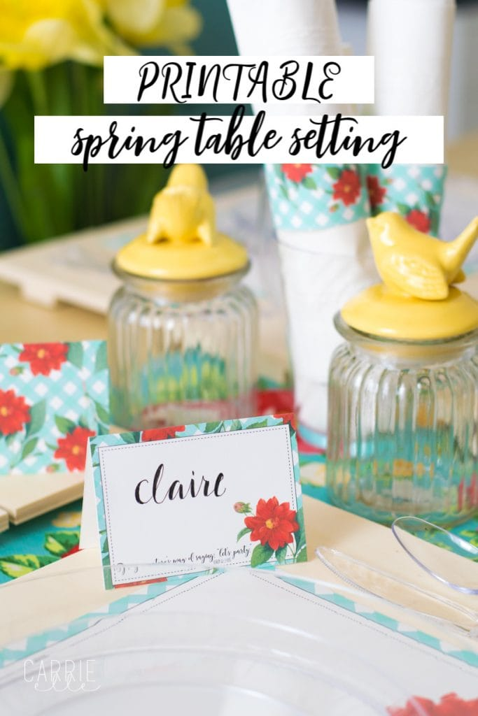 Printable Spring Table Setting