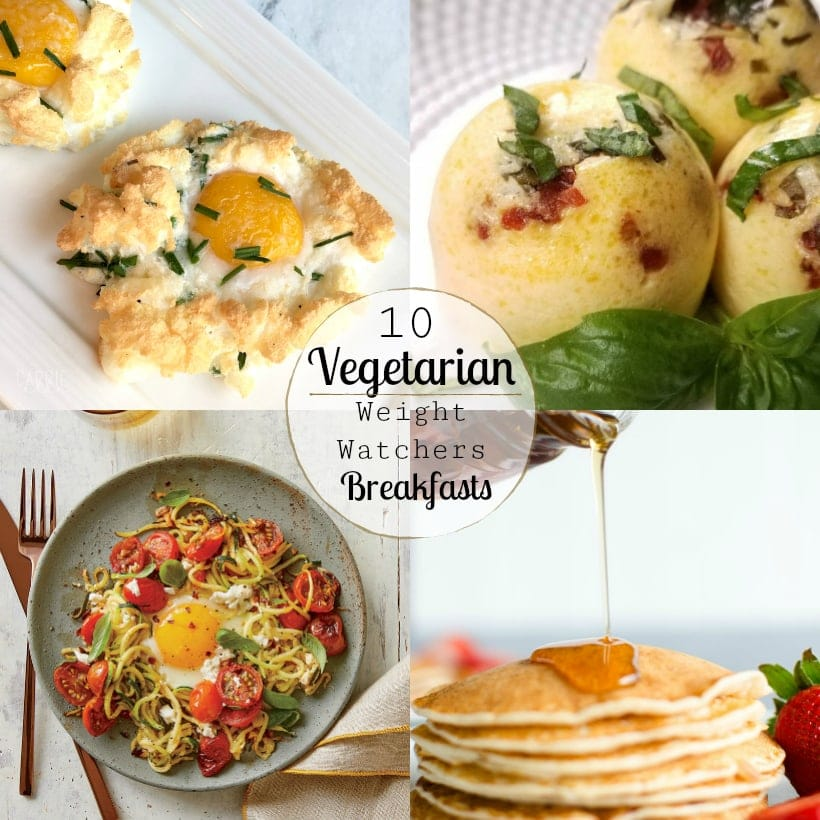Vegetarian Weight Watchers Breakfast