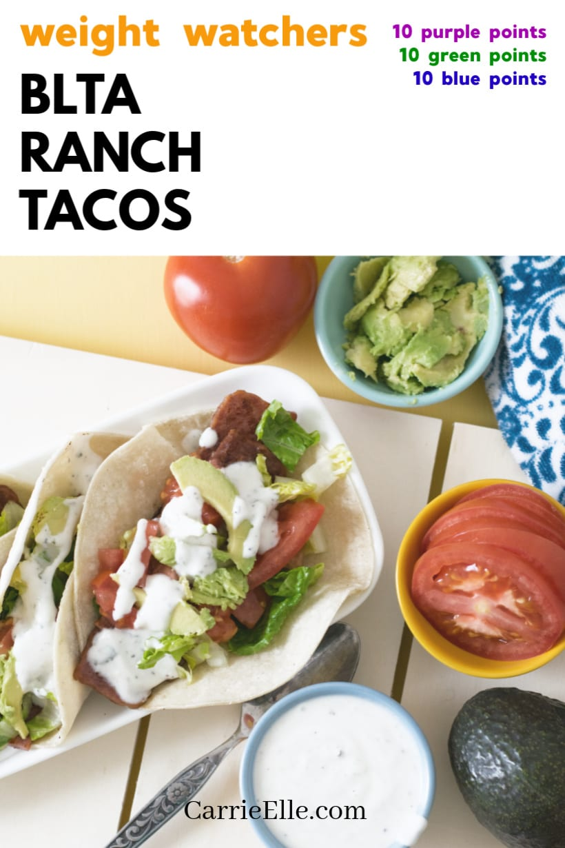 WW BLTA Ranch Tacos