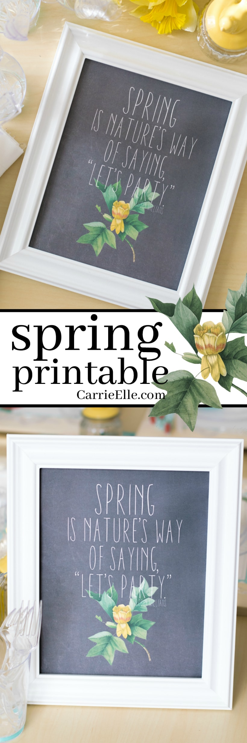 spring printable wall art