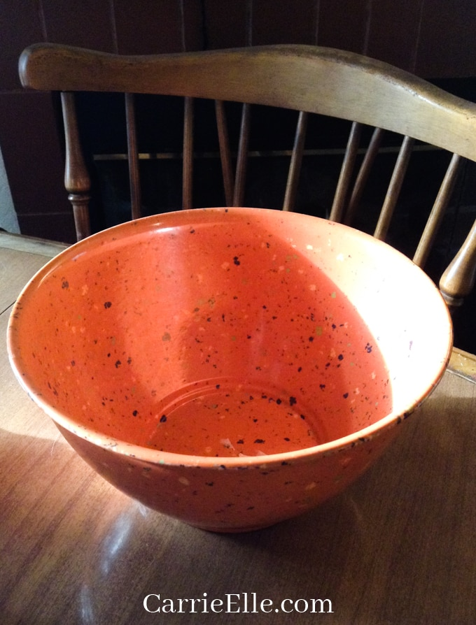 Image of speckled clay planting pot